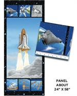 Benartex I Want My Space Fabric - Lift Off Fabric Panel