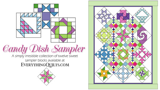 Candy Dish Sampler Quilt Pattern Set At Everything Quilts