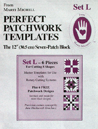 Marti Michell Perfect Patchwork Template Set L - Seven Patch Block