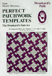 Marti Michell Perfect Patchwork Template Set - SMALL Drunkard's Path