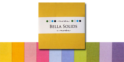 Moda Bella Solids Fabric Charm Pack 5 x 5 - 30's Colors
