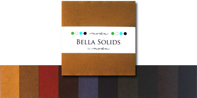 Moda Bella Solids Fabric Charm Pack 5 x 5 - Darks
