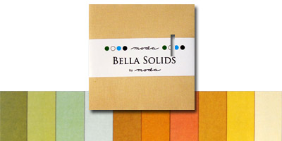 Moda Bella Solids Fabric Charm Pack 5 x 5 - Warm