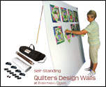 "Large 72"" Free-Standing Portable Quilters Design Wall"